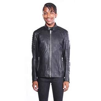 BOSS ORANGE Men's Jaysee Leather Jacket