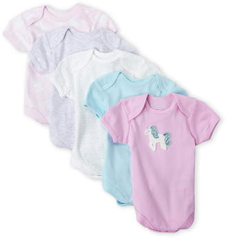 Rene Rofe Newborn Girls) 5-Pack Unicorn Bodysuits