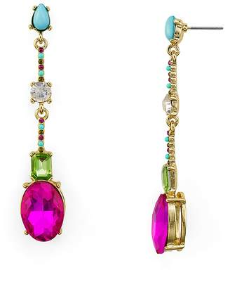 RJ Graziano Multicolor Faceted Linear Drop Earrings