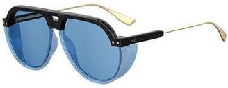Christian Dior DiorClub3 Aviator Sunglasses w/ Side Blinders