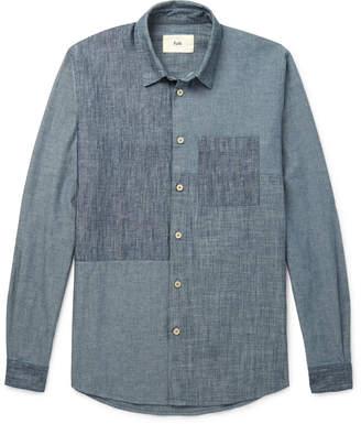 Folk Patchwork Cotton and Linen-Blend Chambray Shirt