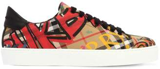 Burberry 20mm Westford Printed Canvas Sneakers