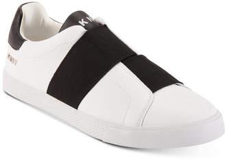 DKNY Men's Brogan Asymmetrical Elastic Gore Slip-On Sneakers Men's Shoes