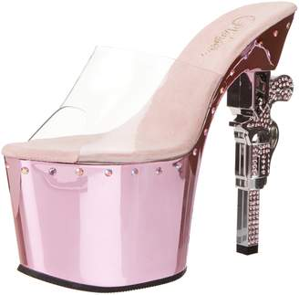 Pleaser USA Women's Revolver-701LS Platform Sandal