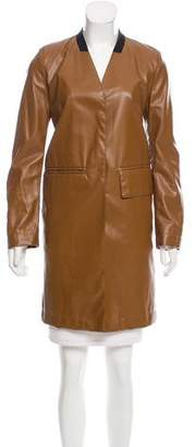 MM6 MAISON MARGIELA MM6 by Maison Martin Margiela Long Faux Leather Jacket