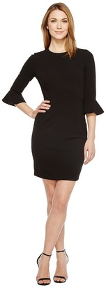Donna Morgan - 3/4 Bell Sleeve Sheath Dress Women's Dress $118 thestylecure.com