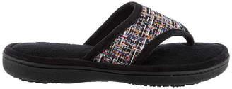 Isotoner Tweed Thong Slip-On Slippers