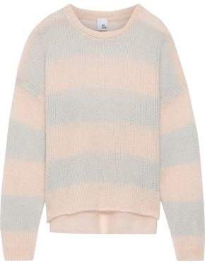 Iris & Ink Laurina Striped Open-knit Mohair-blend Sweater
