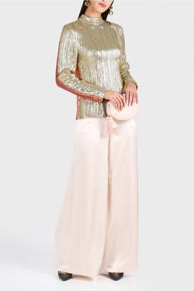 Madiyah Al Sharqi Sequin Embroidered Top