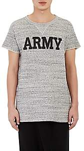 Nlst Men's Army Short-Sleeve Sweatshirt-Gray Size S
