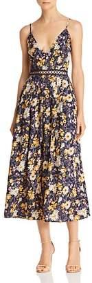 J.o.a. Floral-Print Midi Dress