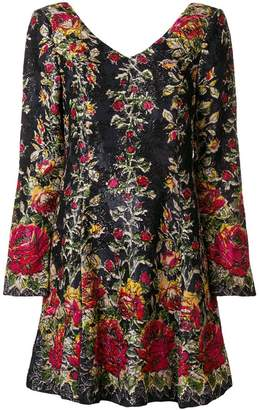 Anna Sui floral flared dress