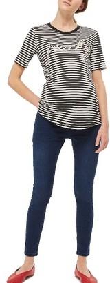Women's Topshop Joni Crop Skinny Maternity Jeans $70 thestylecure.com