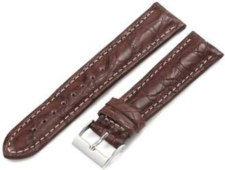 Artisan of Italy CITS200-0220MR Men's Active Sport Padded Matte Crocodile 20mm Brown Watch Strap