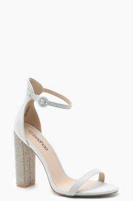 boohoo Diamante Block Heels