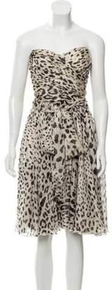 Dolce & Gabbana Sleeveless Sheer Leopard Print Dress leopard Sleeveless Sheer Leopard Print Dress