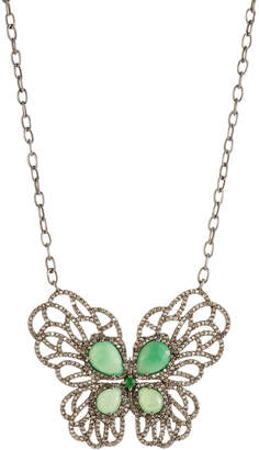 Bavna Mixed Butterfly Pendant Necklace 505pHfg4