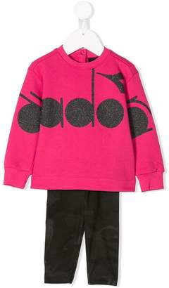 Diadora Junior logo sweatshirt and leggings set