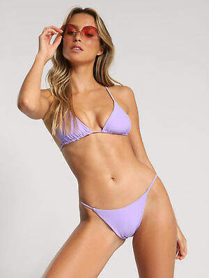 New Twosixswim Womens Stevie Bikini Top In Orchid Purple Swimwear Bikini Tops