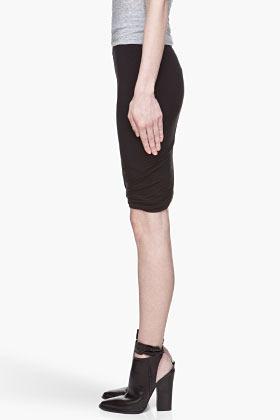 Alexander Wang Black Micro Modal Spandex Twist Skirt