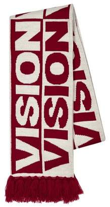 Topman Mens VISION STREET WEAR Red And White Football Scarf