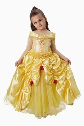 Rubie's Costume Co Girls Yellow Belle Premium Fancy Dress Costume - Yellow