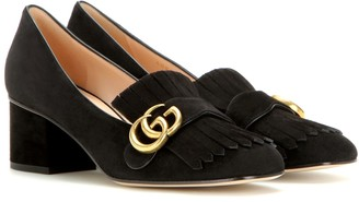 Gucci Marmont suede loafer pumps