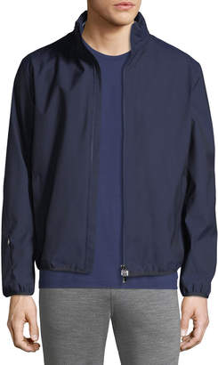 Ermenegildo Zegna Solid Weave Zip-Front Blouson Jacket