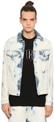 McQ Bleached Stretch Denim Effect Jacket