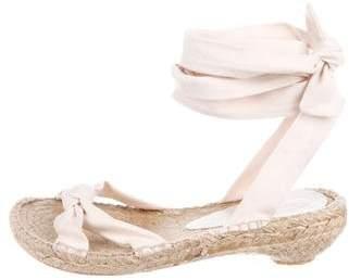 DKNY Fabric Wrap-Around Sandals