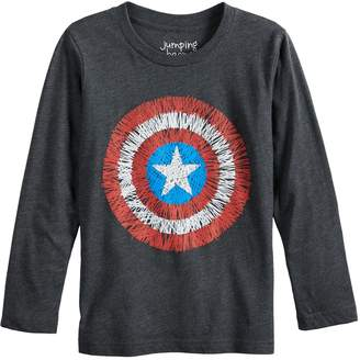 Boys 4-12 Jumping Beans Marvel Captain America Shield Graphic Tee