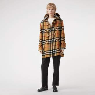 Burberry Gosha x Check Oversized Duffle Coat
