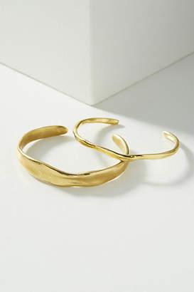 Anthropologie Modern Metalwork Cuff Bracelet Set