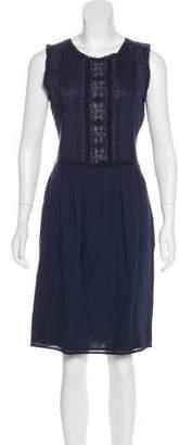 Ulla Johnson Crochet-Trimmed Knee-Length Dress