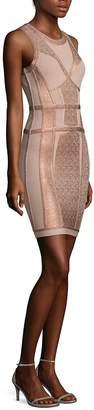 Herve Leger Women's Metallic Knit Dress