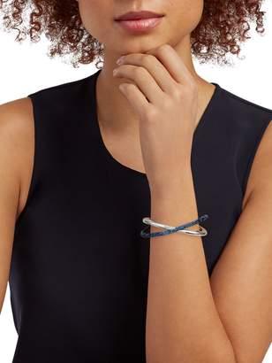 Swarovski Silvertone & Crystal Cuff Bracelet