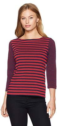 Ruby Rd. Women's Petite Size 3/4 Sleeve Printed Cotton Knit Top