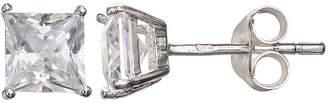 clear SILVER TREASURES Silver Treasures 5mm Stud Earrings