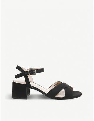 Office Muffin cross-over strap block heel sandals