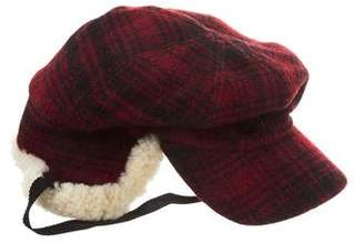 Barneys New York Barney's New York Shearling-Trimmed Wool Hat