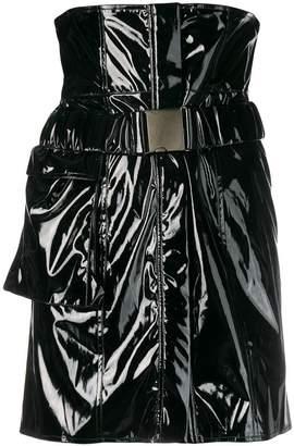 Faith Connexion high waist vinyl mini skirt