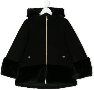 Herno Kids faux fur trim coat