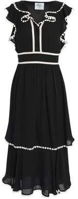 Kate Spade Madison Ave Tiered Silk-Crepe Midi Dress