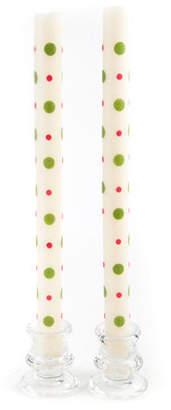 Mackenzie Childs MacKenzie-Childs Dot Dinner Candles, Set of 2
