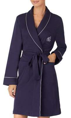Lauren Ralph Lauren The Hartford Robe with Quilted Collar and Cuffs