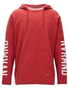 BOSS Hugo NVRMND Cotton Blend Hoodie Werde M Red