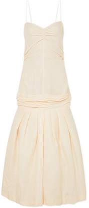 Jacquemus Mamao Linen And Cotton-blend Midi Dress - Beige
