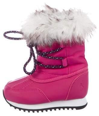 Ralph Lauren Girls' Round-Toe Snow Boots