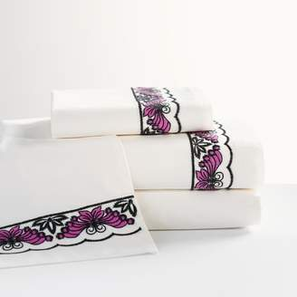 Pottery Barn Teen Anna Sui Embroidered Butterfly Sateen Sheet Set, Full, Ivory Multi