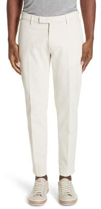 Boglioli Flat Front Stretch Solid Cotton Blend Trousers